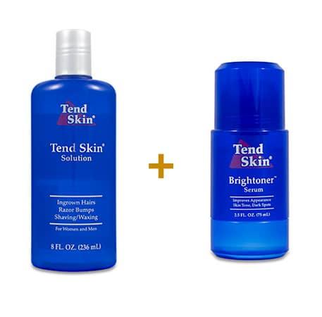 Foliculite: Kit Tend Skin Solution 236 ml + Brightoner Roll-On 11
