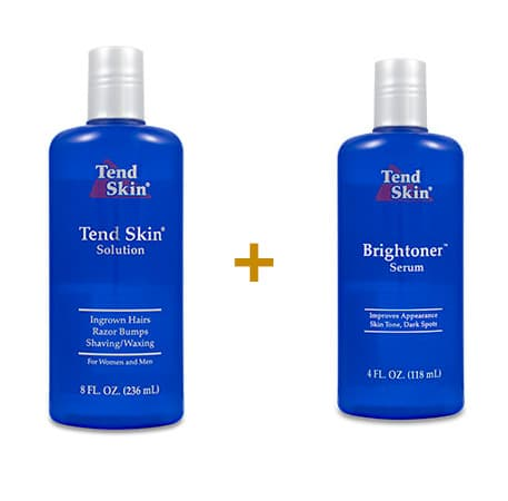 Foliculite: Kit Tend Skin Solution 236 ml + Brightoner Serum 118 ml 4