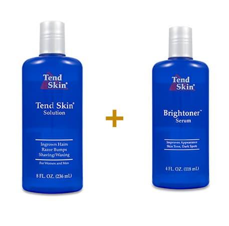 Foliculite: Kit Tend Skin Solution 236 ml + Brightoner Serum 118 ml 1
