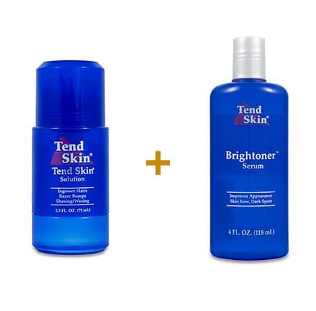 Foliculite: Kit Tend Skin Solution Roll-On + Brightoner Serum 118 ml 5