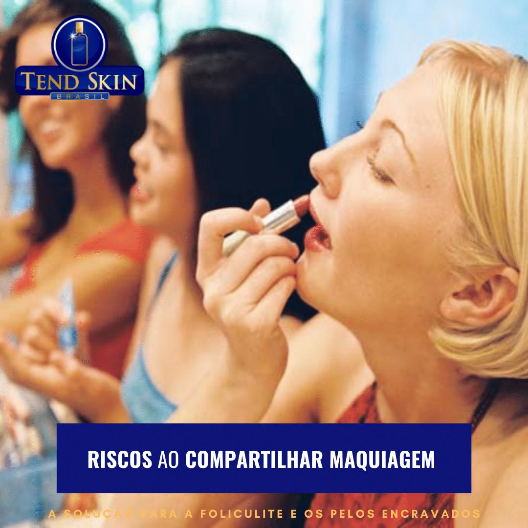 Foliculite: Riscos ao compartilhar maquiagem 1